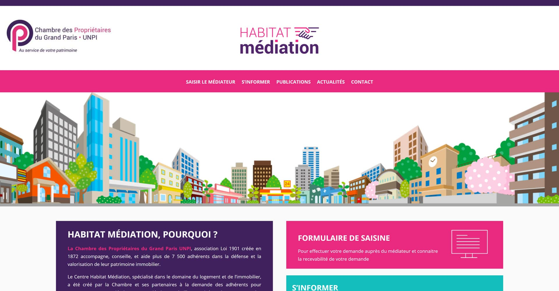 portofolio agence web offshore site d'habitat médiation