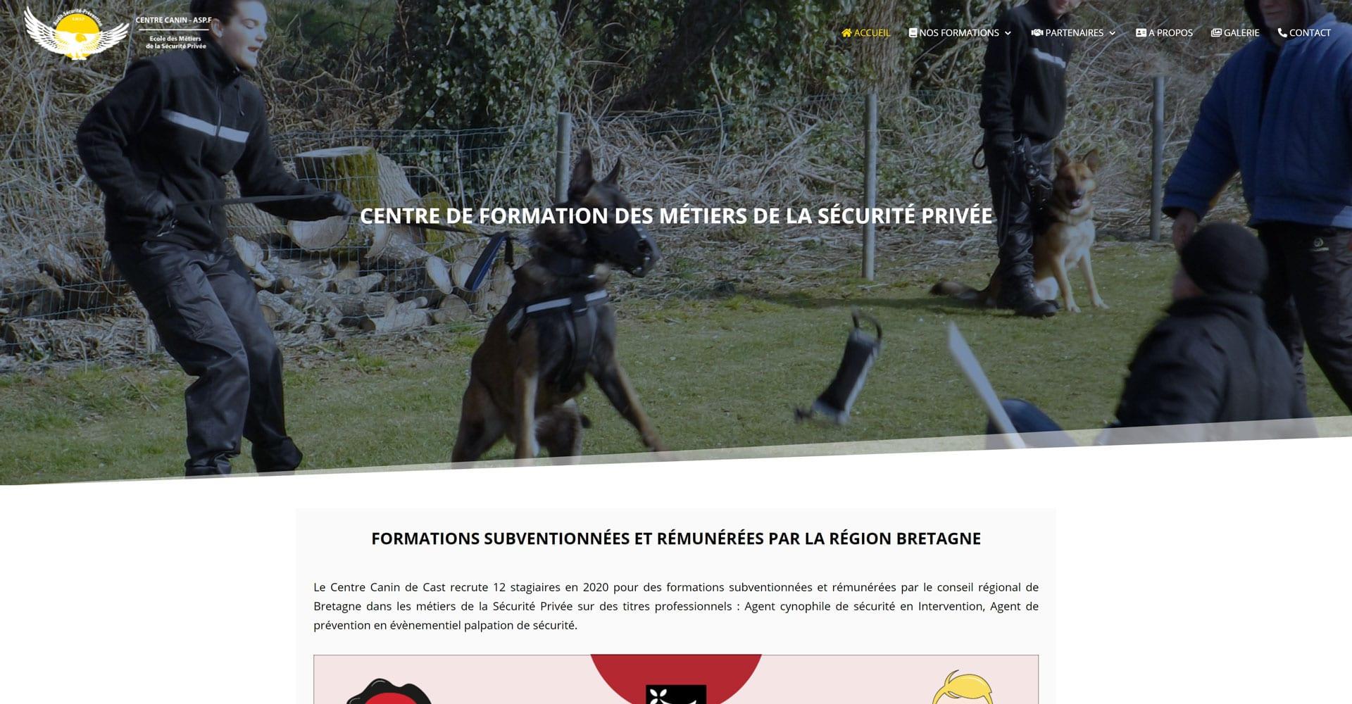 portofolio agence web offshore site centre canin de cast